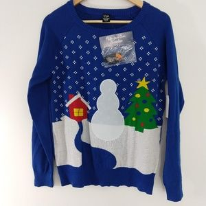 Ugly Christmas Sweater Make Your Own Snowman LARGE